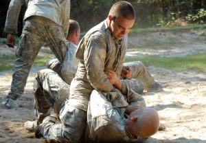Virginia Soldiers engage in Hand-to-hand combat training