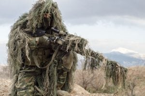 65302857 - sniper camouflage ghillie suit