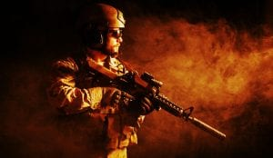 34003297 - bearded special forces soldier on dark background