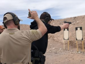 timed handgun drill