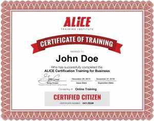 ALICE Citizen certification